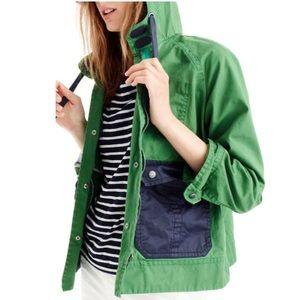 NWT/ J Crew | Women's large parka coat rain green